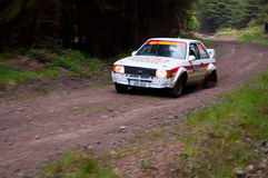 M. Sheedy driving Ford Escort Royalty Free Stock Photo