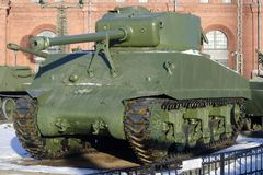 M4 Sherman in museum stock foto's
