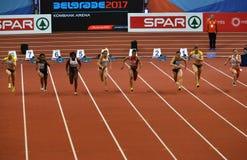 60m sista start Royaltyfria Bilder
