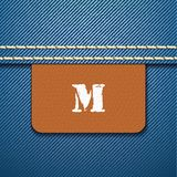 M size clothing label -  Stock Photo