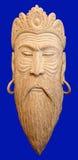 Męska drewniana maska Obrazy Royalty Free