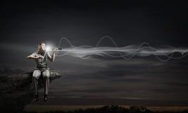 Męska skrzypaczka Obraz Royalty Free