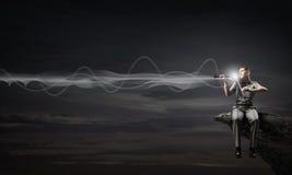 Męska skrzypaczka Fotografia Royalty Free