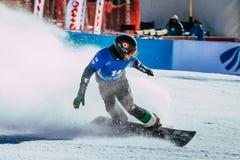 Męska snowboarder meta po rasy Obrazy Stock