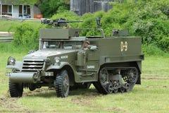 M3A1 Skautowski samochód od muzeum Amerykański opancerzenie podczas drugiej wojny światowa obozowiska Zdjęcia Stock