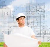 Męski architekt patrzeje projekt Obraz Stock