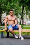 Męski atleta sport Fotografia Royalty Free