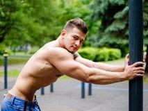 Męski atleta sport Obrazy Royalty Free