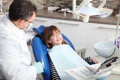 Męski dentysta i potomstwa cierpliwi Obrazy Royalty Free