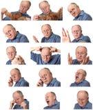 męski emocjonalny seniora zestaw Obraz Royalty Free
