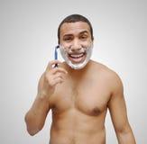 męski golenie Fotografia Royalty Free