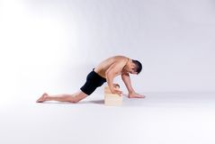 Męski joga model Fotografia Royalty Free