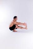 Męski joga model Zdjęcie Stock