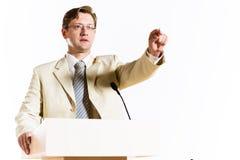 Męski mówca Zdjęcie Stock