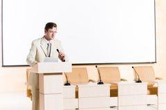 Męski mówca Zdjęcia Stock