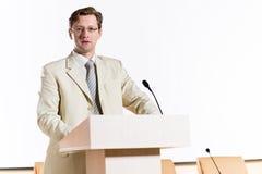 Męski mówca Fotografia Royalty Free