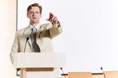 Męski mówca Obrazy Stock