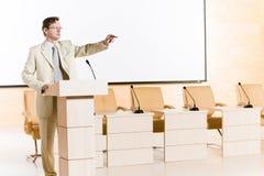 Męski mówca Fotografia Stock