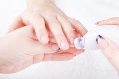 Męski manicure Zdjęcia Royalty Free