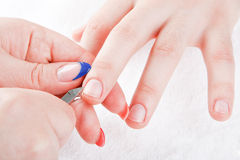Męski manicure Obrazy Royalty Free