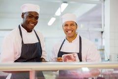 Męski masarki butchery kontuar Obraz Stock