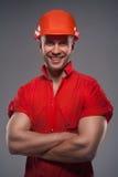 Męski pracownik budowlany Obrazy Stock