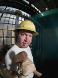 Męski pracownik budowlany Fotografia Stock