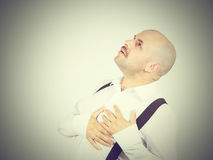 Męski serce ból Zdjęcie Royalty Free