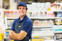 Męski supermarketa pracownik Zdjęcie Stock