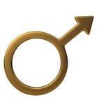 męski symbol Obrazy Royalty Free