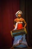 Męski tambourine tancerz, Kandy, Sri Lanka Obrazy Stock