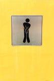Męski toaleta znak Obrazy Stock