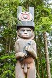 Męski totem w drewnach Zdjęcie Stock