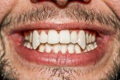 Męski wampira usta Zdjęcia Royalty Free