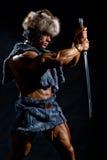 Męski wojownik z kordzikiem Fotografia Royalty Free