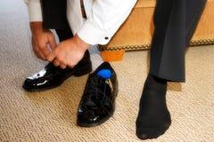 męskich butów Zdjęcie Royalty Free