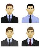 Męskie biznesowe ikony Obrazy Stock