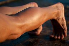 Męskie nogi Fotografia Royalty Free