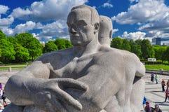 Męskie statuy w Frogner parku, Oslo Zdjęcie Stock