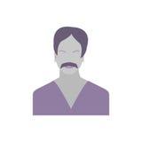 Męskiej ikony Inkasowy czas dla medytaci Zdjęcie Royalty Free