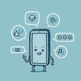 M. slimme telefoon sociale netwerken Royalty-vrije Stock Fotografie