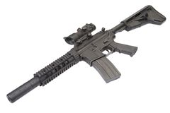 M4 special forces rifle Royalty Free Stock Image