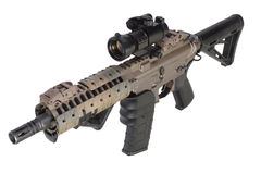 M4 special forces rifle isolated on a white Royalty Free Stock Photography