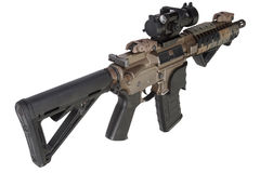 M4 special forces rifle isolated on a white Stock Images