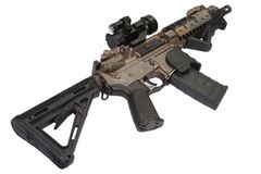 M4 special forces rifle isolated on a white Stock Photography