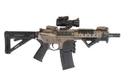 M4 special forces rifle isolated on a white Stock Photo