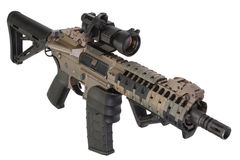 M4 special forces rifle isolated on a white Royalty Free Stock Images