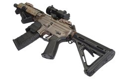 M4 special forces rifle isolated on a white Royalty Free Stock Photo