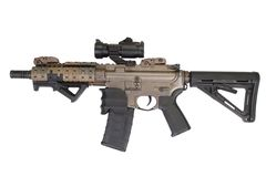 M4 special forces rifle isolated on a white Royalty Free Stock Image