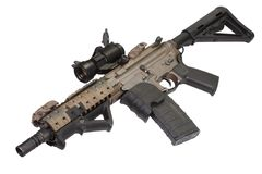 M4 special forces rifle. Isolated on a white background Stock Images